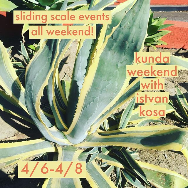 hello and happy spring from studio x!!! we've got some super rad events coming up this month..... KUNDALINI WORKSHOP WEEKEND with istvan kosa : sliding scale events all weekend! all levels and experience welcome!  session A Friday April 6, 6-830pm & session B Sunday April 8 1030a-1p  Brain Calibration Workshop : Come vibrate mantra, move through kriyas, and go deep in meditations that are all designed to stimulate and calibrate different areas of the brain.  This practice will help the brain and mind function optimally for our highest good in these turbulent times of information overload and stress.  Come to class, give it your all, feel the immediate effects and leave feeling refreshed and renewed, and perhaps a little sharper. 22$ or both sessions for 40$  Kundalini Aquarian Sadhana 4-6a Saturday April 7 FREE  Evening meditation & chanting 8-9p Saturday April 7 11$  Sunday April 8, 130-430p 30 min private integrated bodywork sessions, combining acupressure, shiatsu massage and reiki energy. sessions are limited and 33$ per 1/2 hour.  package deals! brain workshop A+B : 40$ (10% savings) brain workshop A+B+saturday evening meditation : 44$ (20% savings) brain workshop A+B+evening meditation+treatment session: 66$ (25% savings) 'when you change your mind, you change your relationship to time' -funkadelic