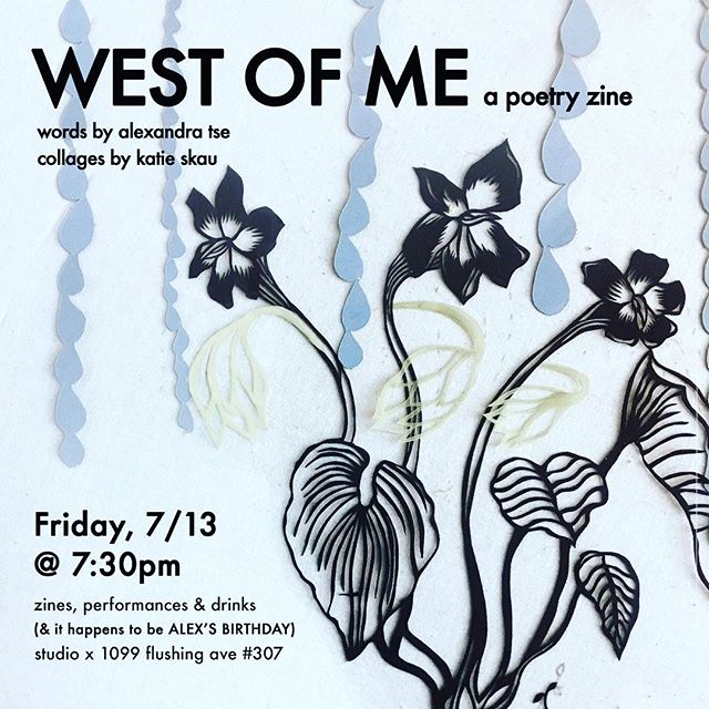 'West of Me.' Zine Launch this Friday, 7/13!! Our incredible, multi talented yoga teachers @katieskau and @alexandra_tse_ have teamed up on this exciting new project and we can't wait to check it out!! Join us!! 🧡🌻🧡