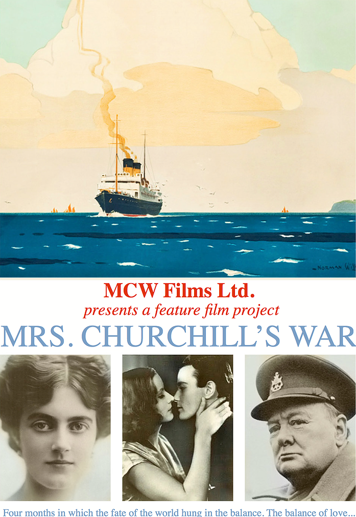 Project - MCW Films Ltd.offers investors the benefits of:Capital Growth Potential from a strong market for British Period Filmsax benefits for UK taxpayersA film based on a multiple Award Winning scriptSet in the glittering realm of the British Empire between the world wars, Mrs. Churchill's War is the story of a woman's struggle for empowerment as she grapples with the conflicting claims of love and duty -Casablanca from the woman's point of view.