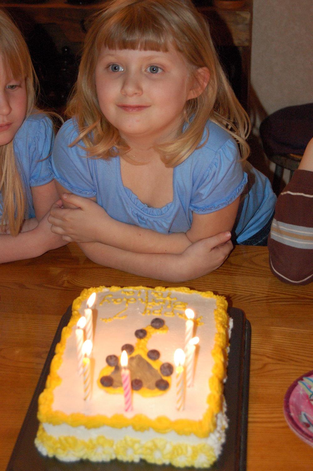 Talia's birthday.