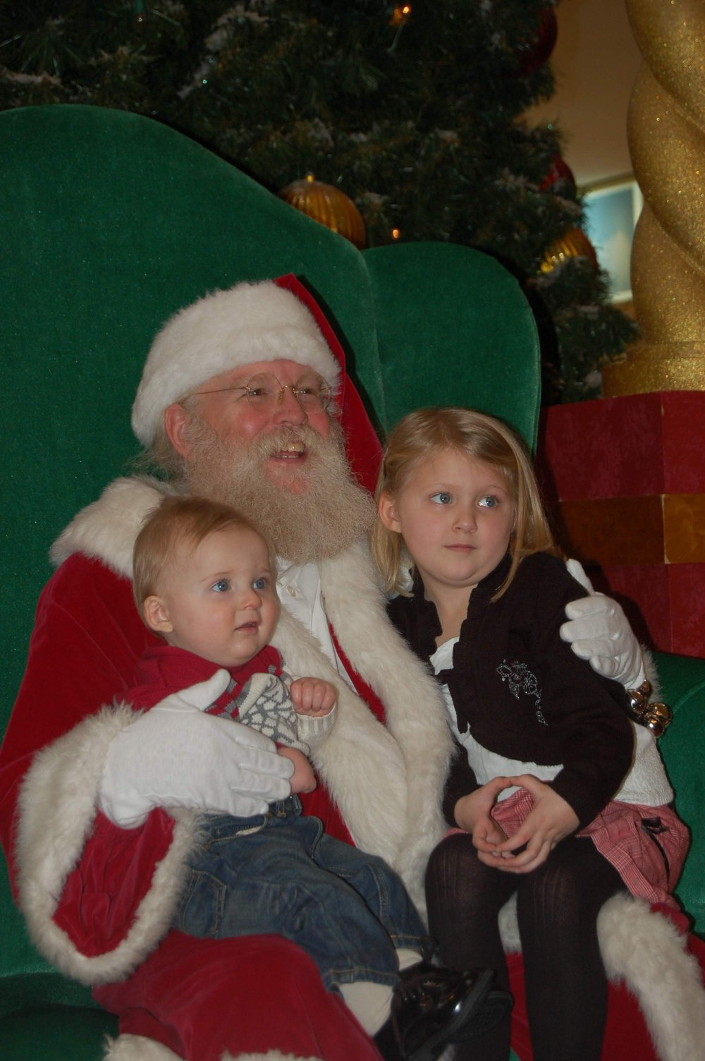 Visiting Santa. The Bass Pro Shop in Independence has one of the best Santa's that I've ever seen. We've been going to see him for many years...