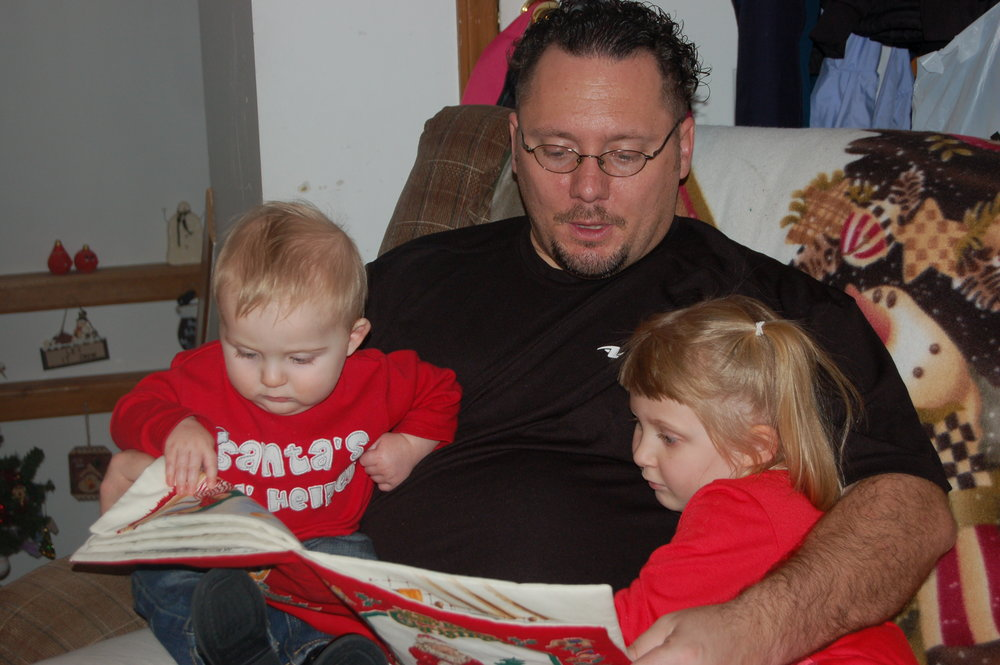 """One of my favorite times is reading """"A Visit From St. Nick"""" every Christmas Eve."""