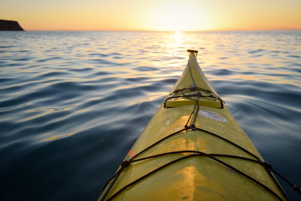 Prestine waters for kayaking