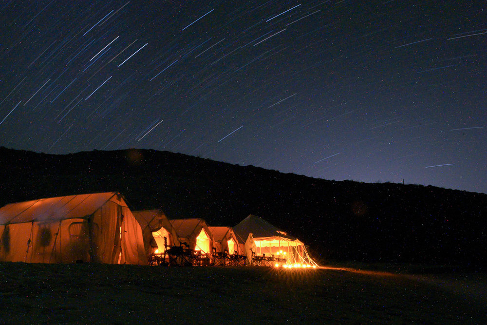 Enjoy the evening under an endless sky of stars with a hard-earned cocktail   Meals: B | L | D