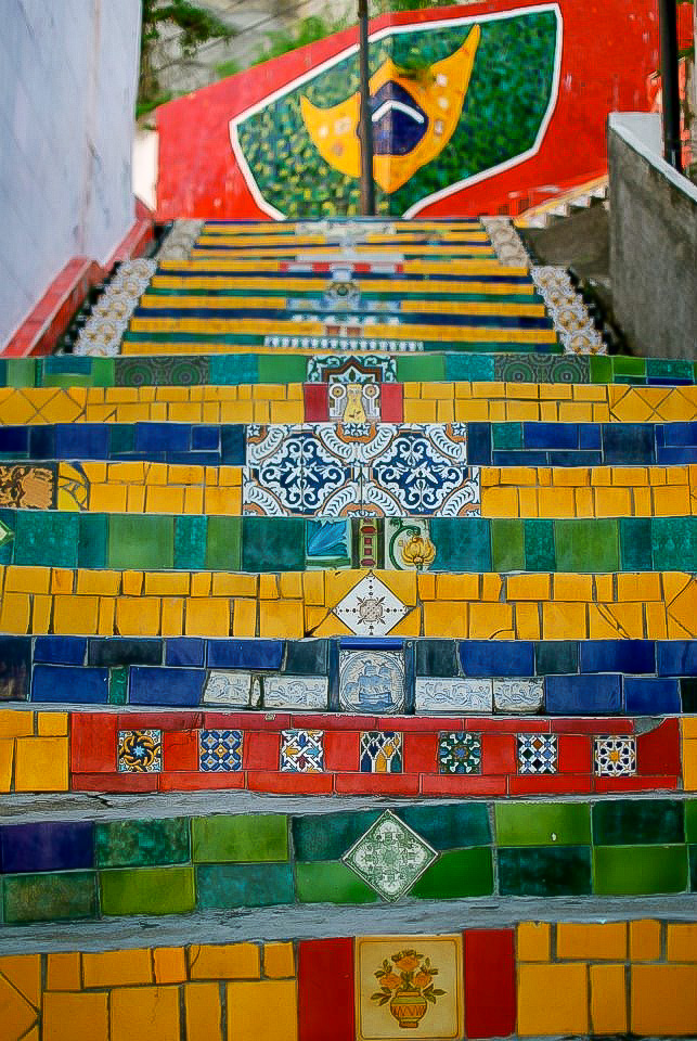 Now  this  is a stair climb I can get into! Escadaria Selarón, Rio de Janiero, Brazil