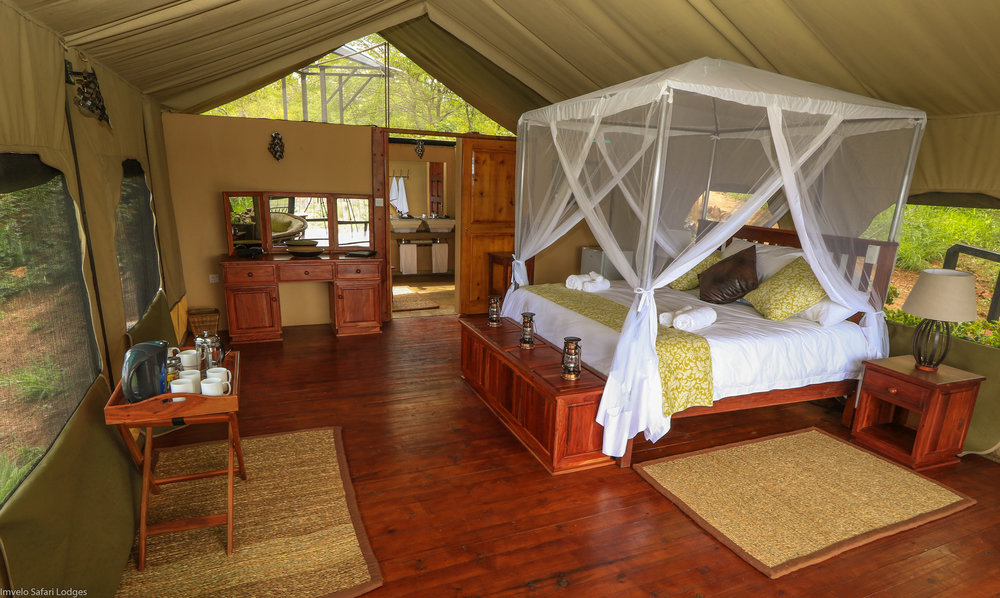 23c - Imvelo Safari Lodges -Little Gorges - King bed tent.jpg