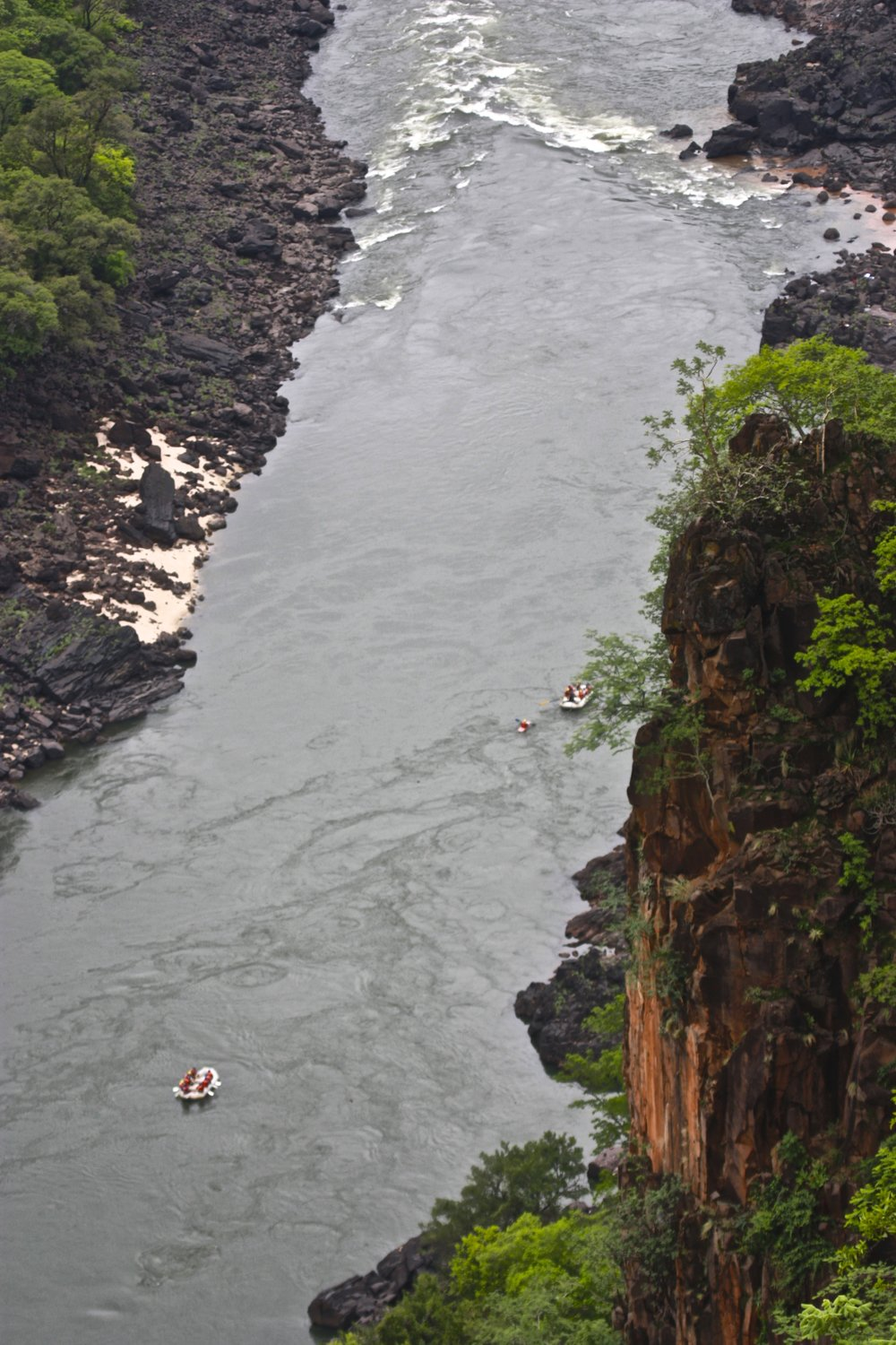 31. Imvelo Safari Lodges - Gorges Lodge - White water rafters pass directly below the lodge.jpg