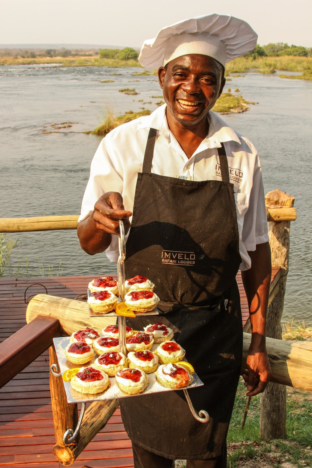 19. Imvelo Safari Lodges - Zambezi Sands - Scones cream and strawberry jam.jpg