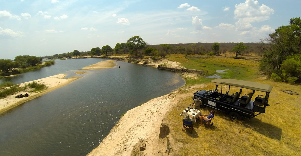 27. Imvelo Safari Lodges - Zambezi Sands River Camp - Brunch on the River.jpg