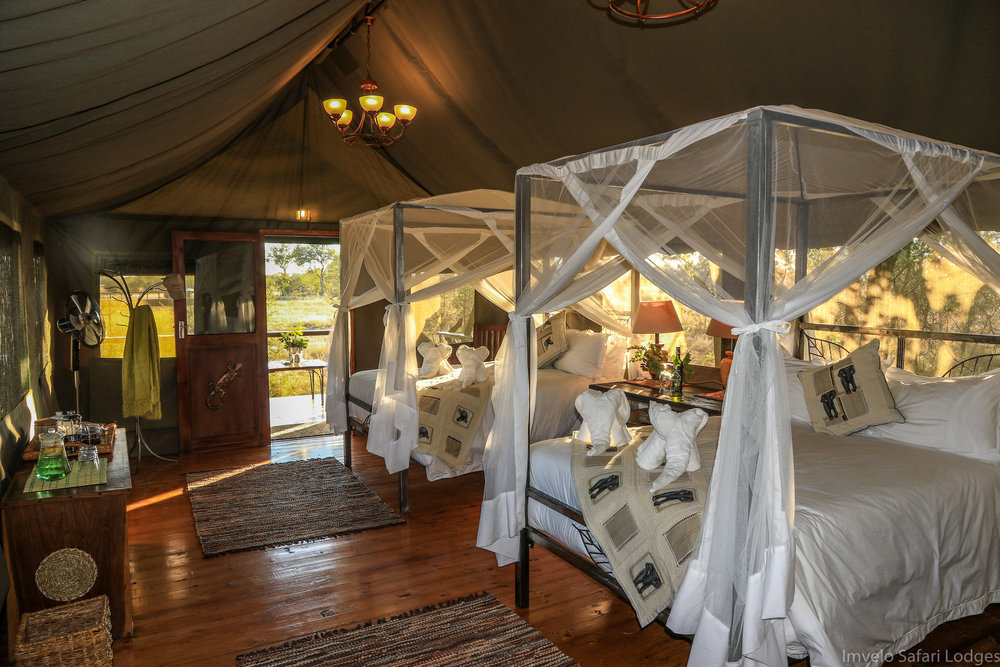 20 - Imvelo Safari Lodges - Bomani Tented Lodge - Interior view of a Saddlebill Tent.jpg