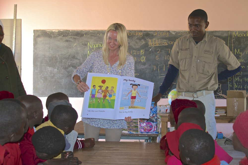 64. Imvelo Safari Lodges - Bomani Tented Lodge -  Ngamo School - Library donations reading lessons.jpg