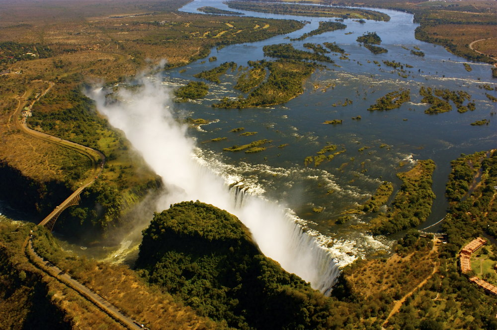 Victoria Falls near Gorges Lodge.    Overnight: Gorges Lodge Meals: D