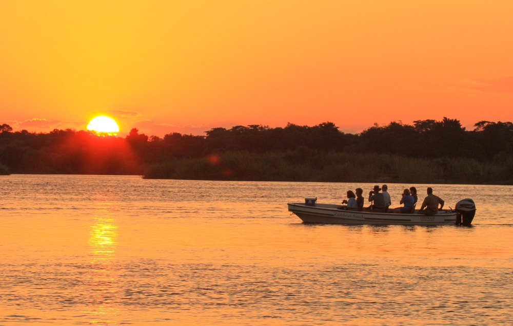 We'll explore the Siansimba Islands by canoe, allowing for spectacular game viewing.    Overnight: Zambezi Sands River Camp Meals: B | L | D