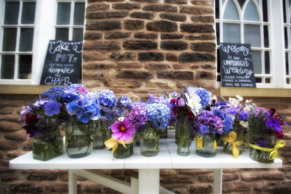 Hannah and Ben's wedding on the blog  The flowers were all from family and neighbours    Photography by Christine Harrison