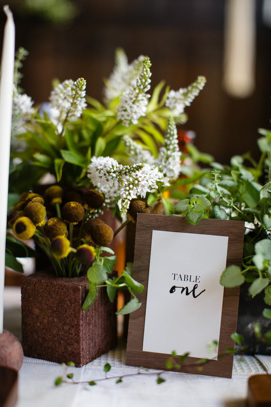 Eco-friendly wedding shoot from  Style Me Pretty