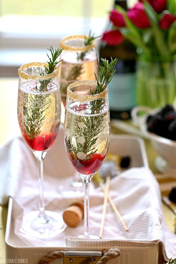 A fantastic curation of festive cocktails can be found on  Boho-Weddings