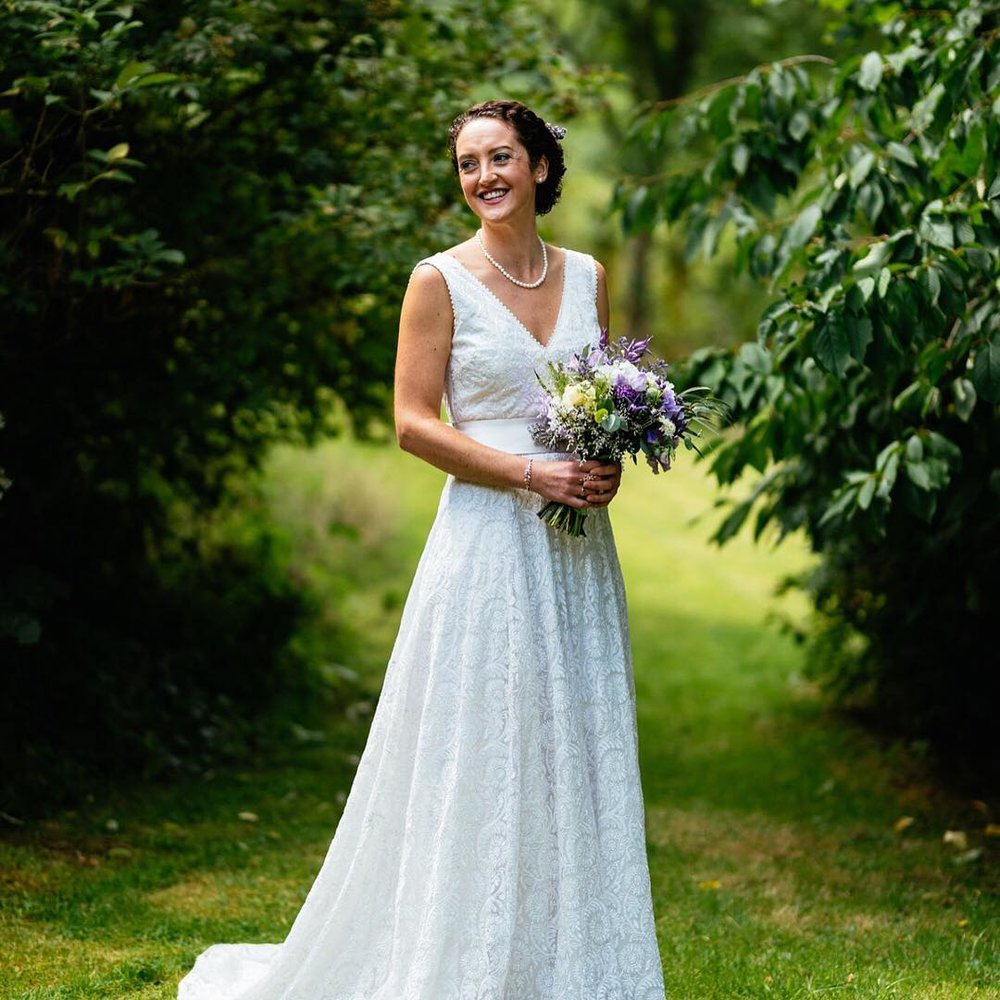 A beautiful all lace fair trade wedding gown from Celia Grace
