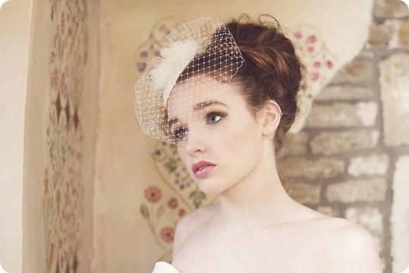Polka dot fascinator with net veil — The Conscious Bride b23fc4fd359