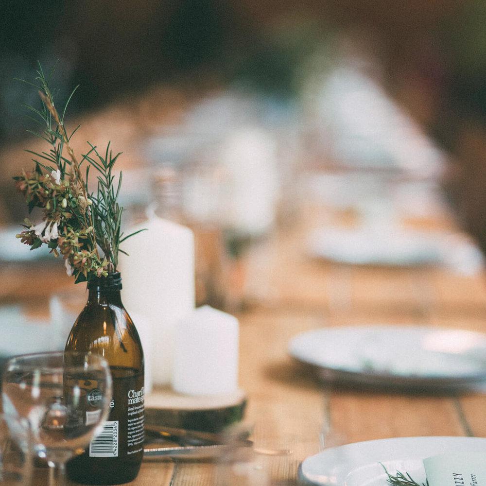 Enamelware events - Zero waste wedding