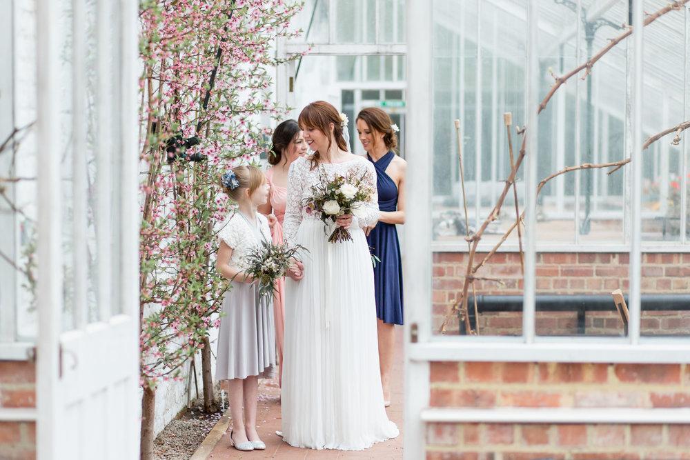 Organic silk chiffon wedding dress