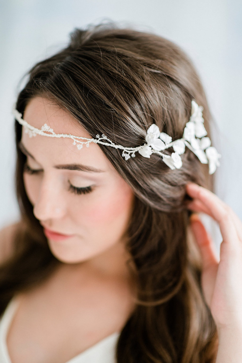 Bramble half crown - Team Beach with the bramble half crown handmade by PSwithlove for a minimalist boho look.