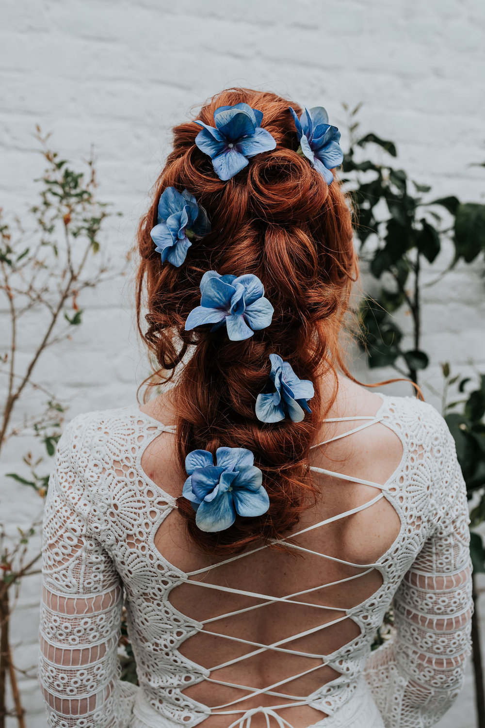 Go for a pop of colour! - Romantically scattered hydrangeas across your hair with the Gypsy Rose Vintage hair pins.