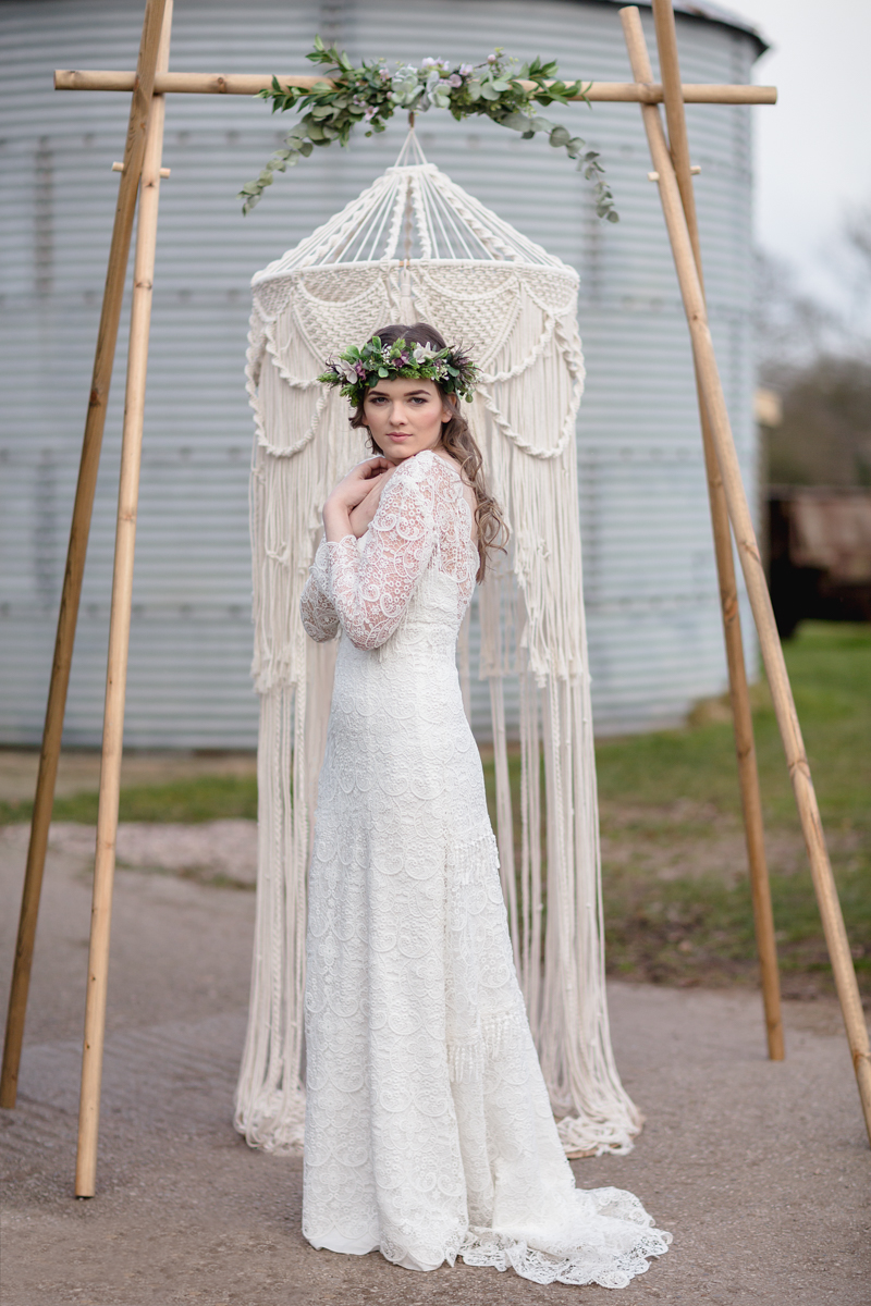 Complete the look - Macrame backdrops and table decor handcrafted by Little White Attic