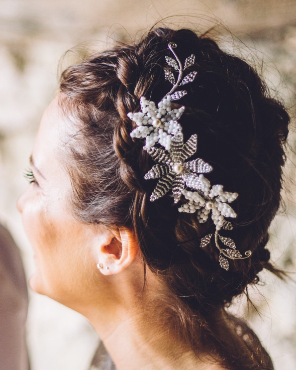 Beading as intricate as lace - The Kalini haircomb handcrafted by Glorious by Heidi