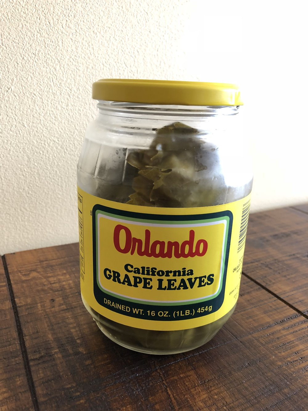I generally use jarred grape leaves. They work just fine but, of course, if you are on the west coast or are fortunate enough to have access to fresh grape leaves when they are in season, use them. Just soak fresh leaves in hot water while you prepare the filling.