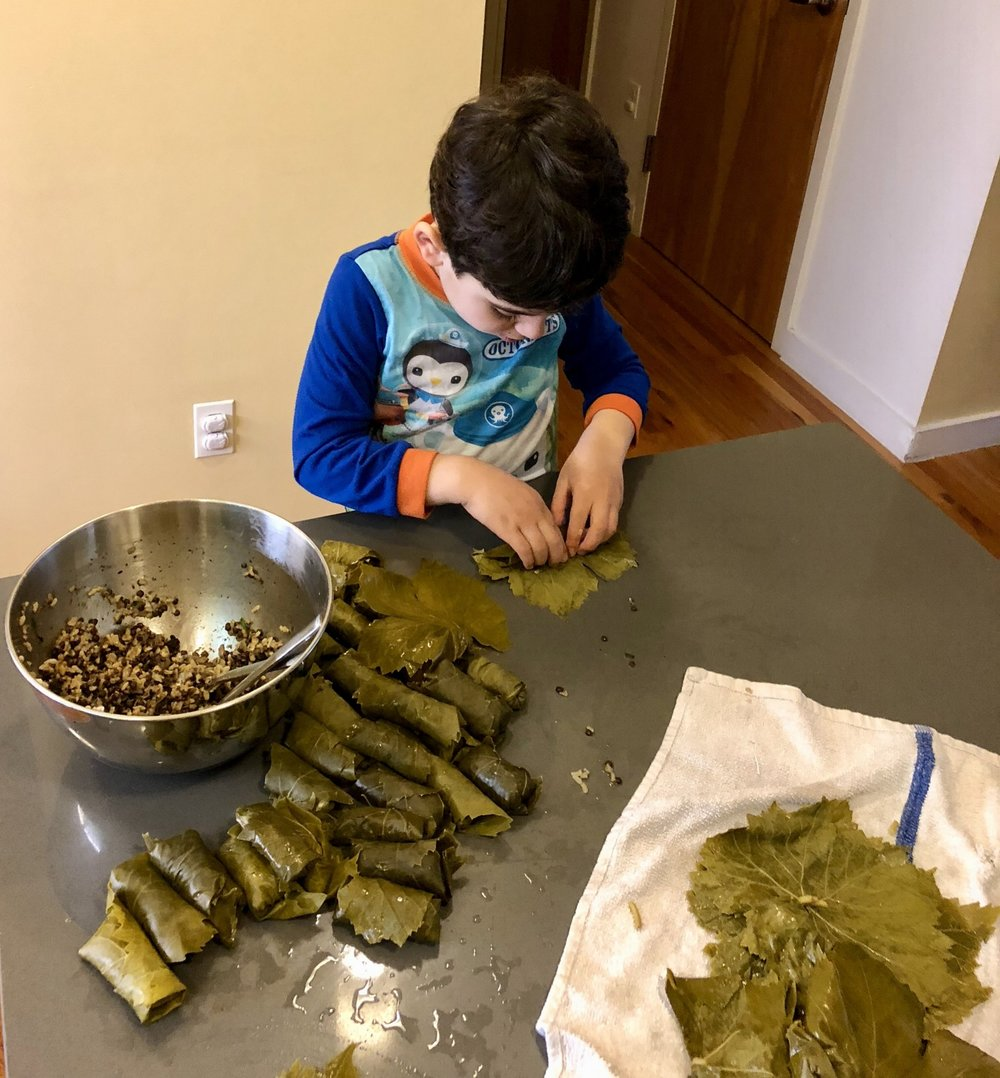 Dolmas: Vegetarian Stuffed Grape Leaves