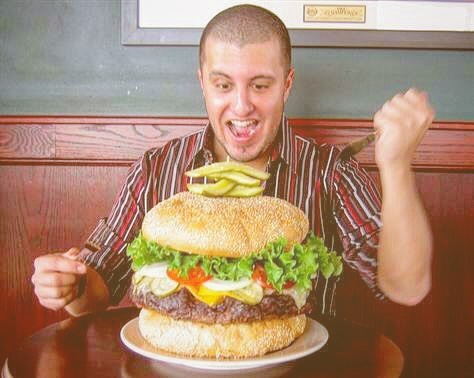 TEN POUND BURGER CONTESTANT