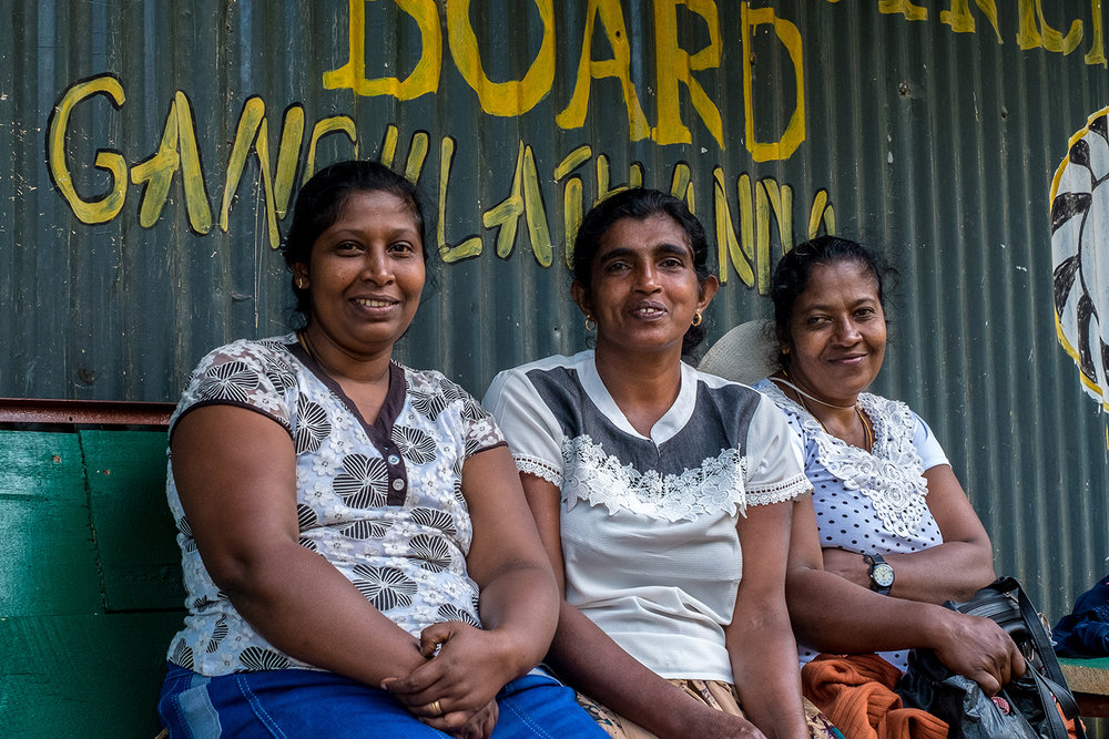 Women outside the Electrical Board, Adam's Peak