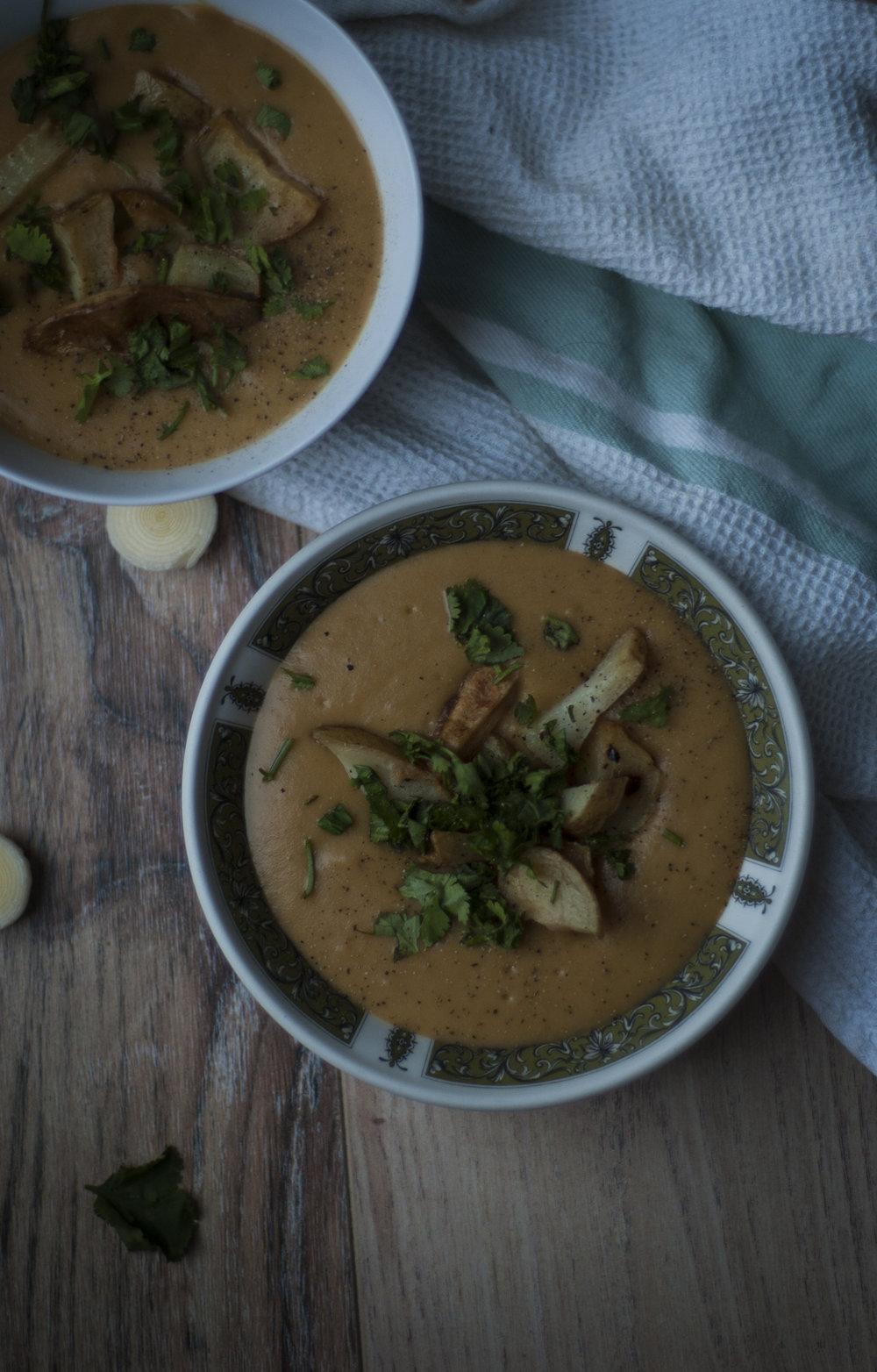 Spiced Potato & Leek Soup.