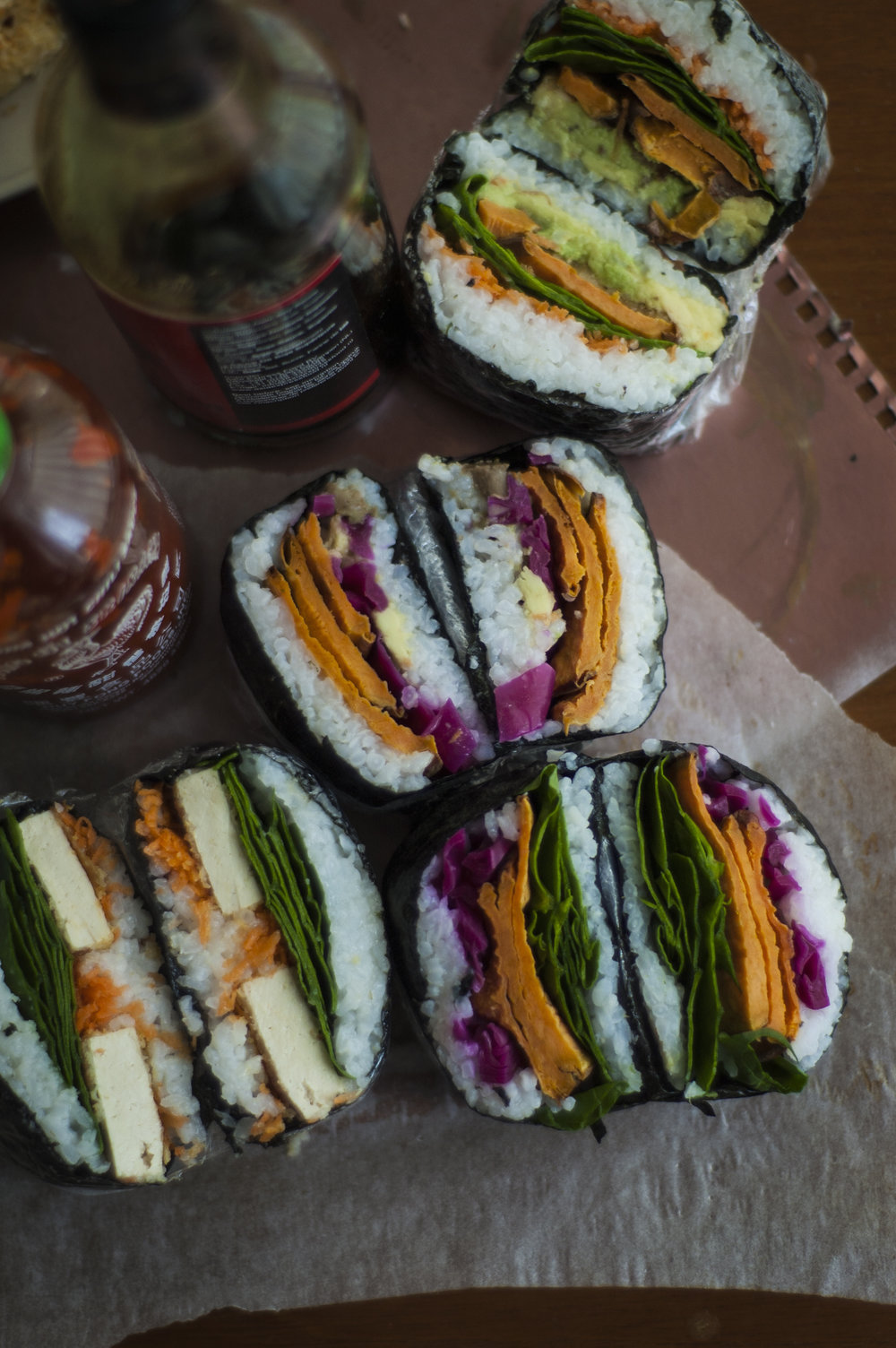 Onigirazu ('Sushi Sandwich').