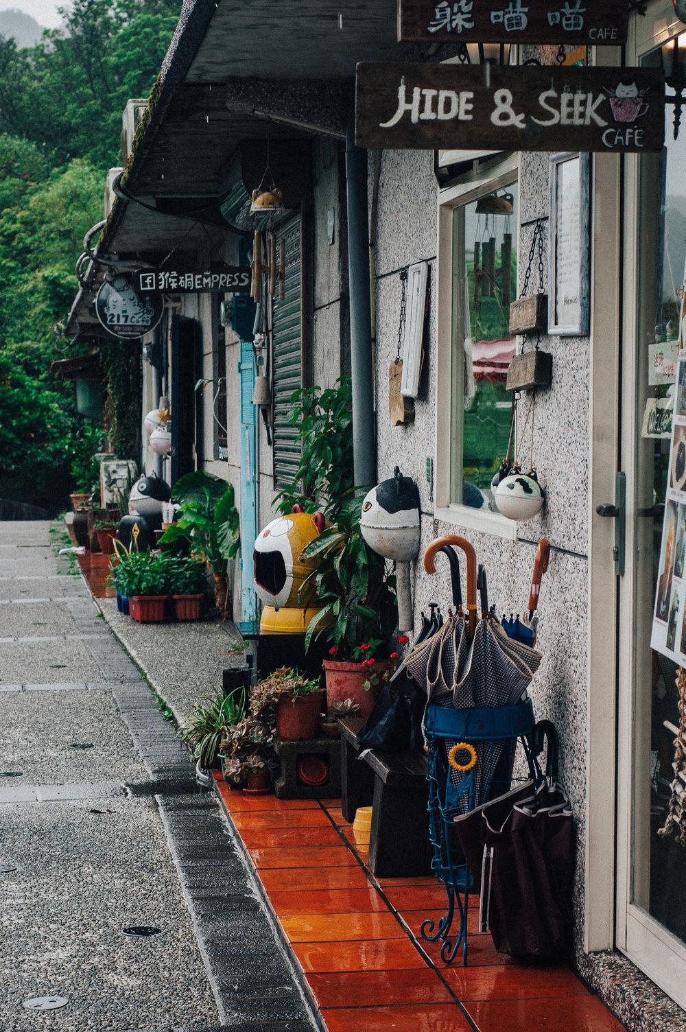 A line of (cat) cafés.