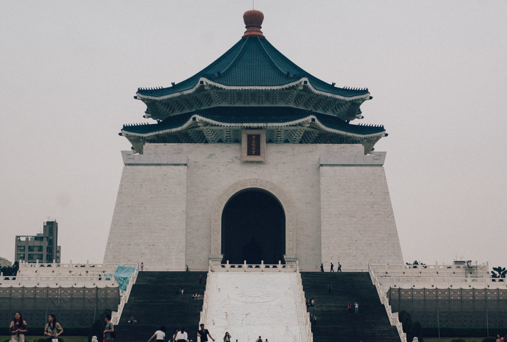 One of Taipei's most famous landmarks - the chiang kai-shek memorial hall.