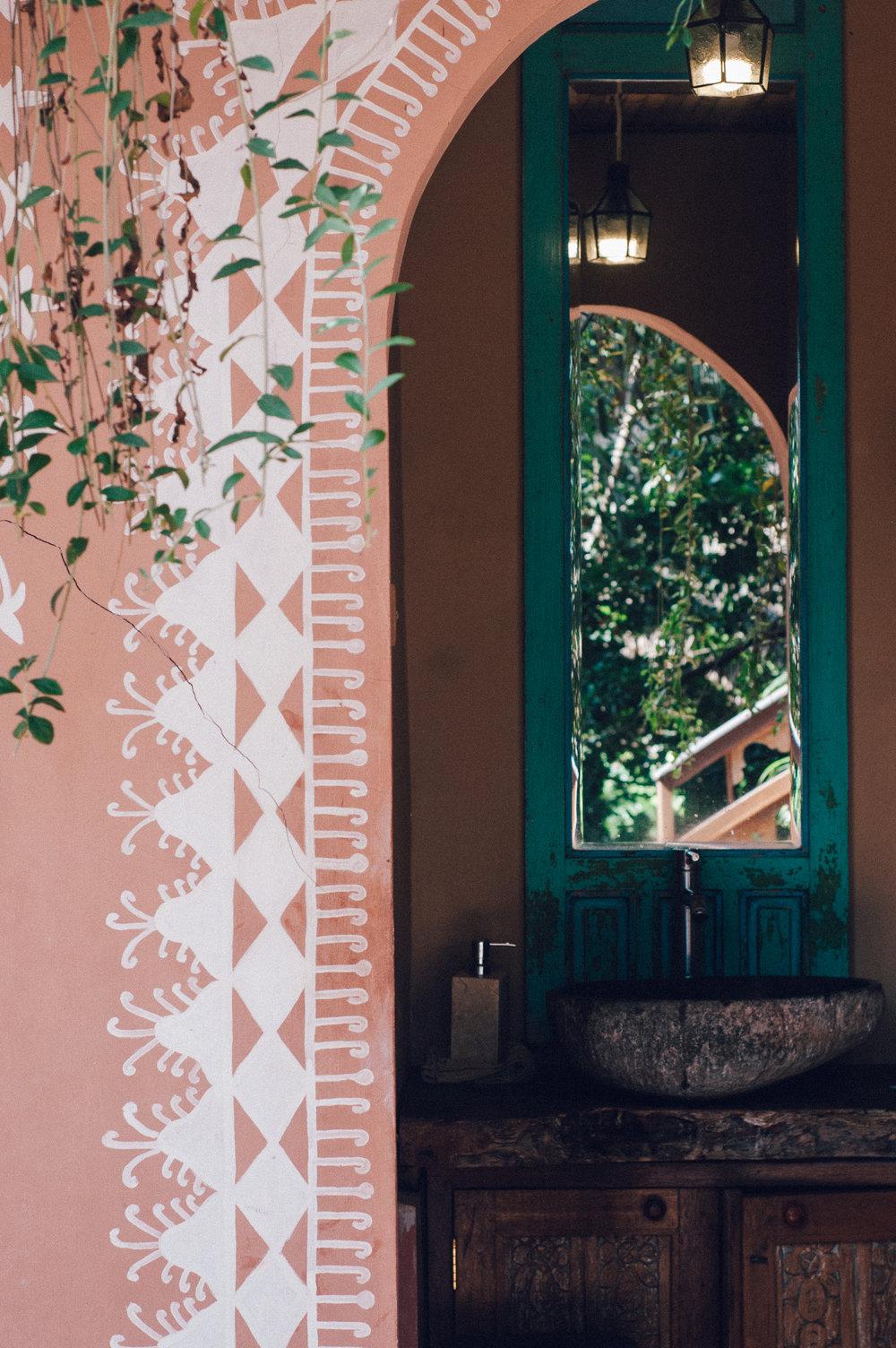 Plants and deep colours at YogaBarn