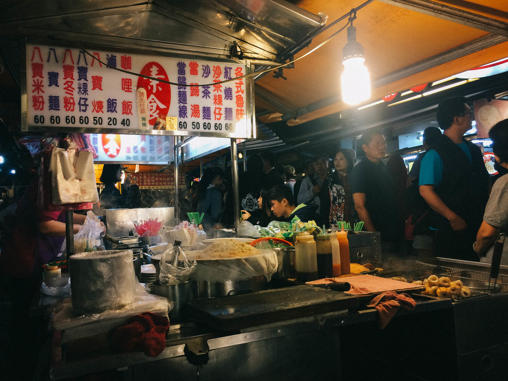 the veggie stall at keelung night market