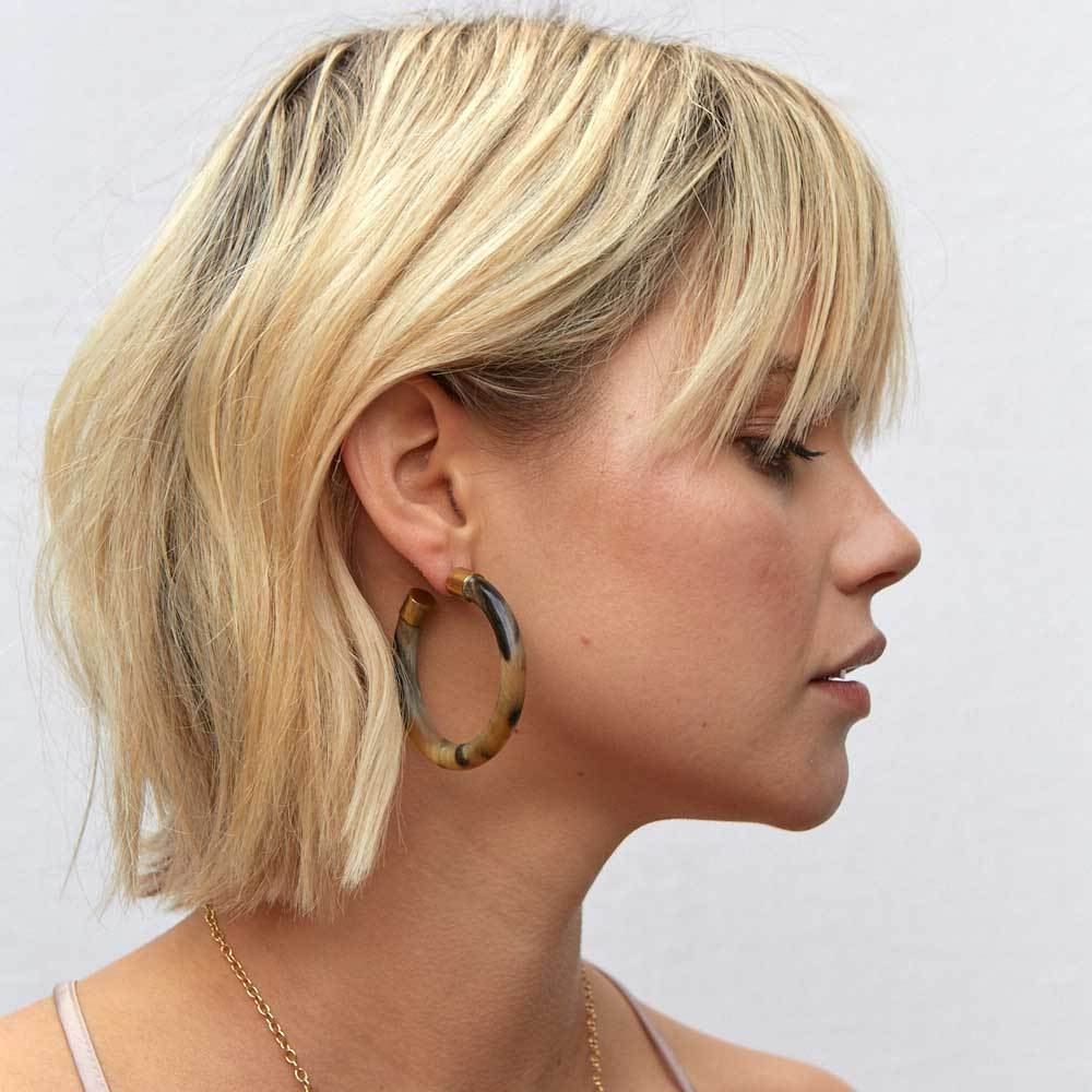 14. Hoop Earrings - I haven't landed on the specific style, but I know I want a pair of tortoise shell style hoops. This was the closest style I could find for now, so I'm keeping my eye out for a different shop that sells tortoise shell hoops.