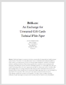 brifs.co Technical White Paper (TBA)