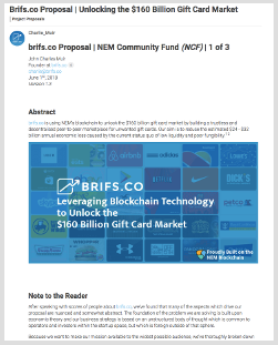 brifs.co NCF Proposal  Voting Starts 2018-06-18