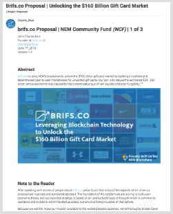brifs.co NCF Proposal  Voting Starts 2018-06-18