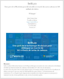 brifs.co Whitepaper | français