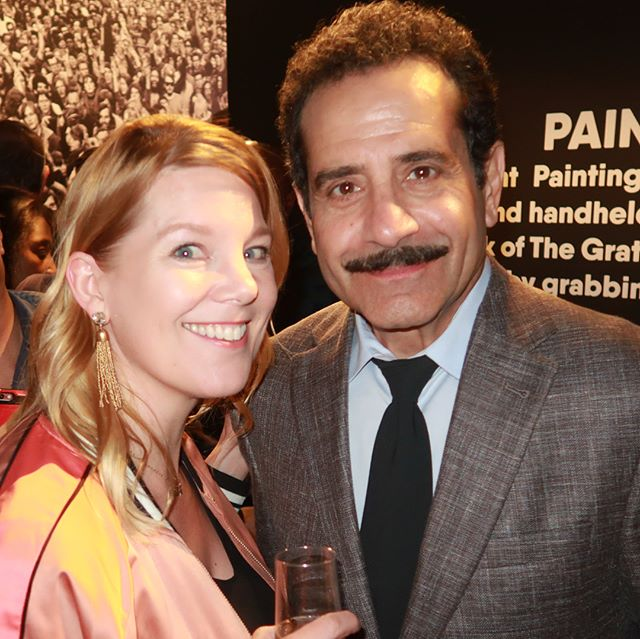 #tbt meeting the genius behind The Marvelous Mrs Maisel and let's not forget Big Night and Monk!!This generous spirit, Tony Shalhoub could not be kinder. A mutual appreciation for our time 'on the boards' ( AKA theater geeks). What an honor to meet and celebrate his hilarious take on Abe Weissman (AKA Marvelous Mrs Maisel's dad) #marvelousmrsmaisel #amazonprime #amazonstudios #fyc