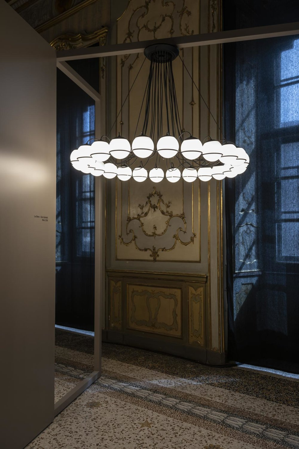 Astep exhibition for Salone del Mobile at Palazzo Litta | Le Sfere Model 2109