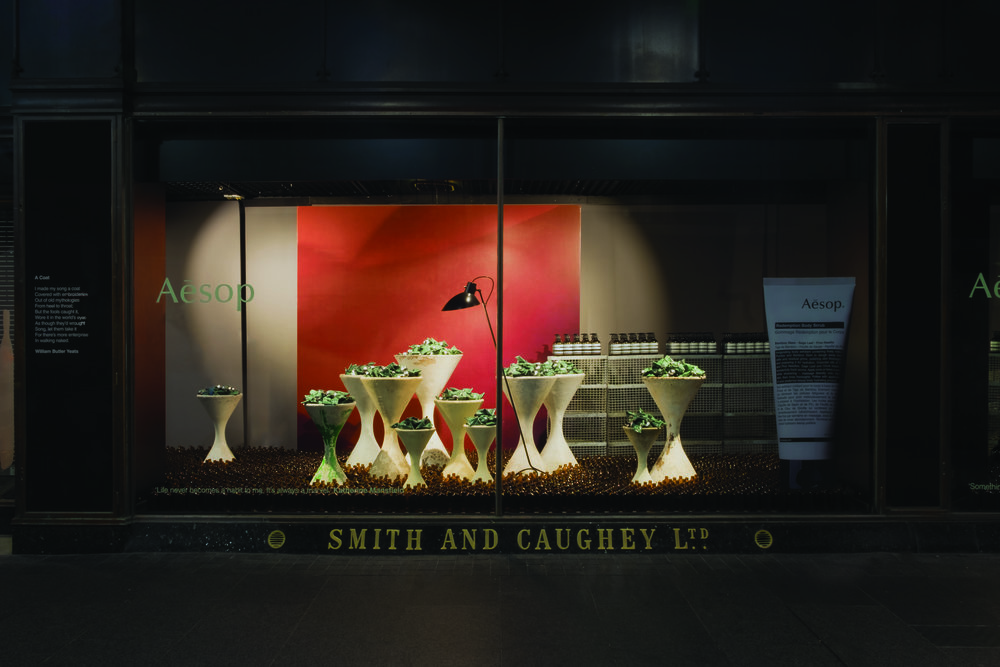 Aesop features the Astep VV Cinquanta floor lamp in bold Smith & Caughey installation