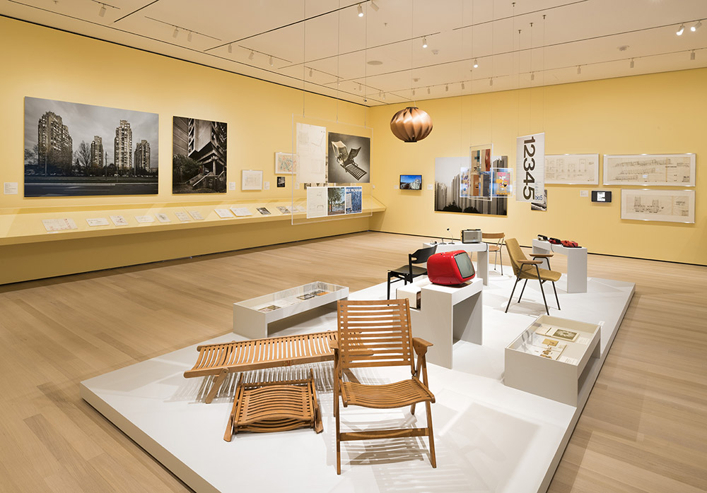 MoMA features Rex Krajl design icons - Rex Lounge Chair, Rex Bench, Shell Chair and 4455 Chair