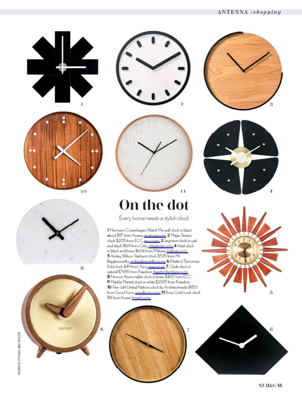 ARCHITECTMADE 'UNITED NATIONS' CLOCK