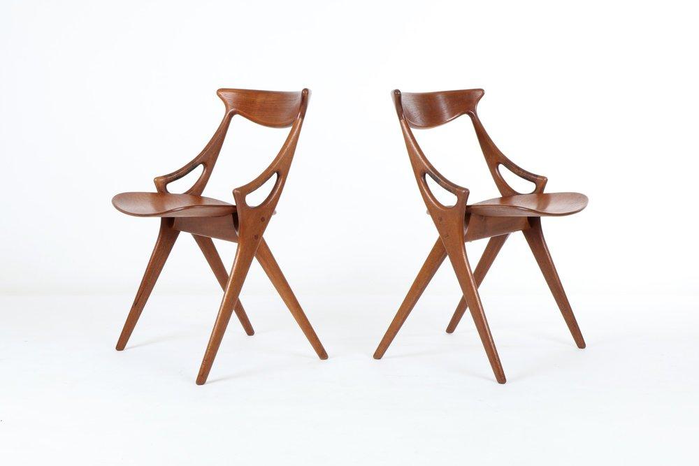 Arne Hovmand-Olsen 'Model 71' Dining Chairs for Mogens Kold Image Credit: Mr Bigglesworthy