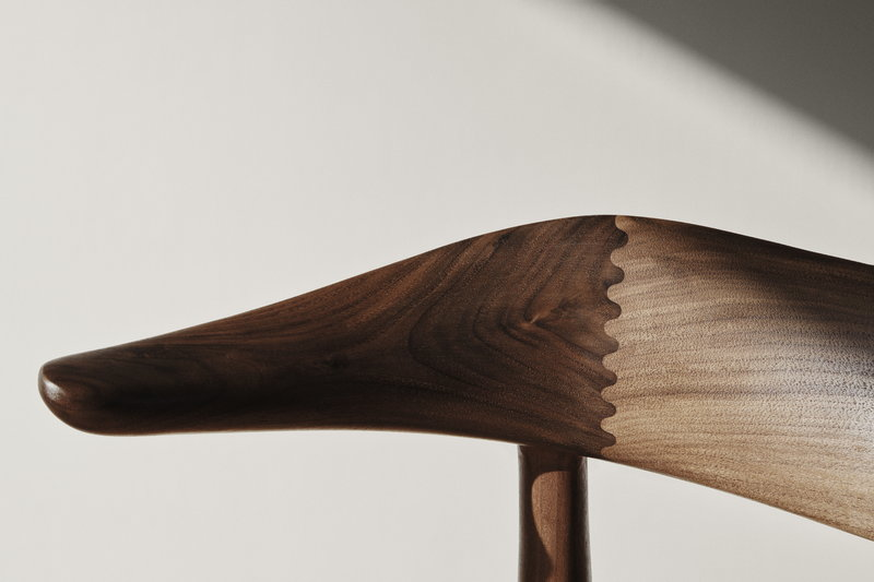 Sculptural detailing on the 'Cow Horn' Chair Image Credit: Warm Nordic